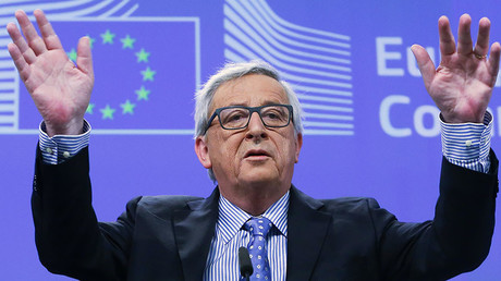 European Commission President Jean-Claude Juncker gives a news conference at the European Commission headquarters in Brussels, Belgium, January 15, 2016. © Yves Herman