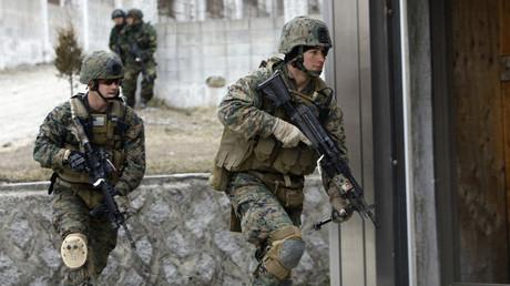 U.S. Marines from 3rd Marine Division, Okinawa, Japan. © Jo Yong-Hak