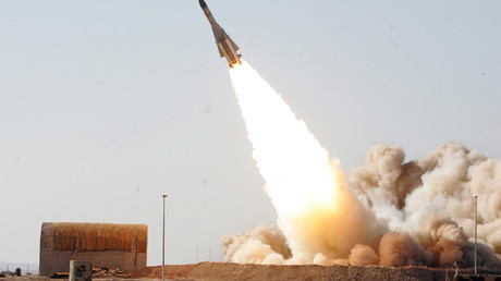 Anti-aircraft missile S-200 being launched during a war game from an unknown location in Iran. © Iran's Army