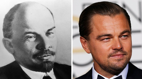 Vladimir Ulyanov (Lenin) and actor Leonardo DiCaprio. © Sputnik / Reuters