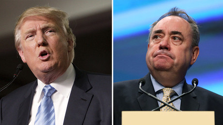 U.S. Republican presidential candidate Donald Trump (L), the Scottish National Party's (SNP) former leader Alex Salmond. © Reuters