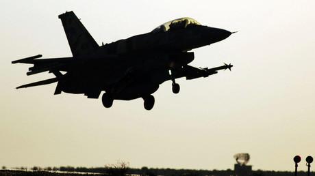 Israeli fighter jet. © Abir Sultan