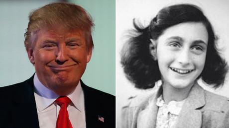 Republican U.S. presidential candidate businessman Donald Trump (L) and Anne Frank © Reuters / wikipedia.org