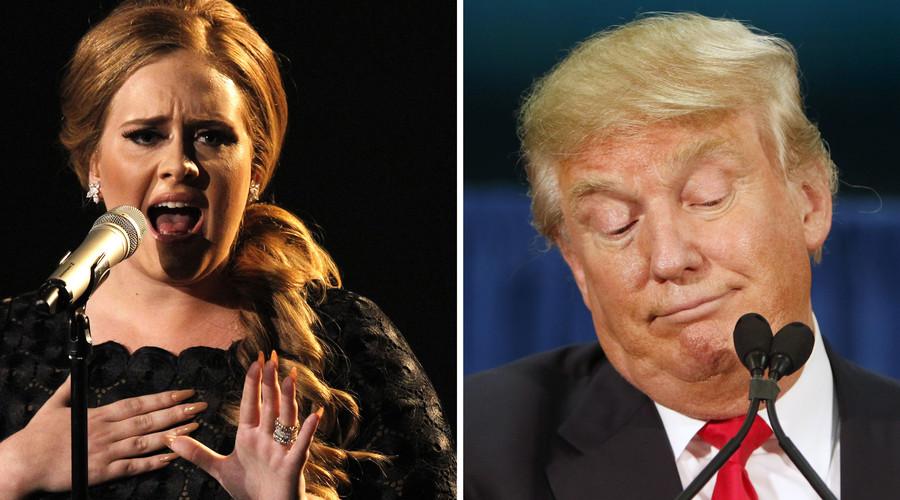 British singer Adele (L), U.S. Republican presidential candidate Donald Trump. © Reuters