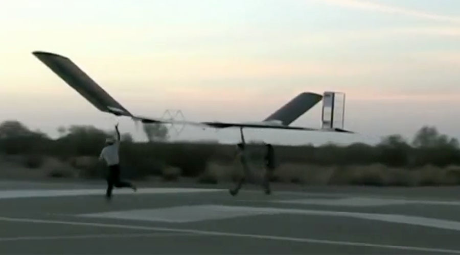 Flight of fancy: Fallon spends £10mn on 2 solar-powered spy drones (VIDEO)