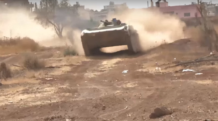 Syrian army makes gains in Daraa with local militia support (VIDEO)