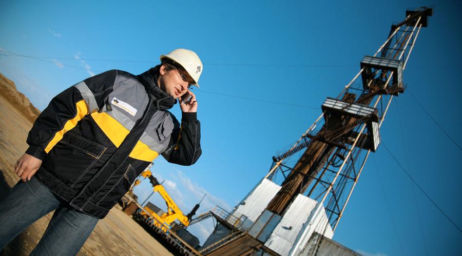 Oil derrick of public oil company Rosneft. © Sputnik