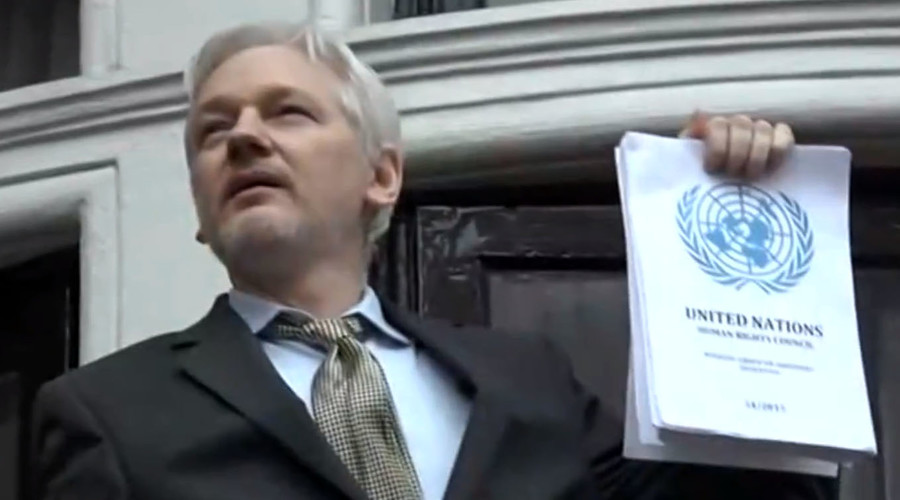 'UN decision undeniable victory, Sweden & UK lost,' Assange tells crowds in London