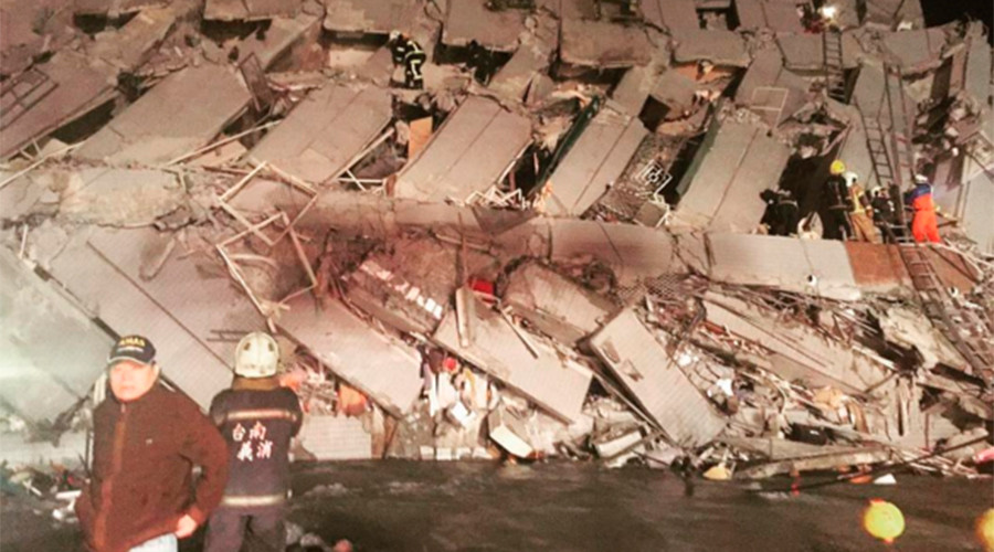 Death toll climbing after quake topples residential buildings in Taiwan