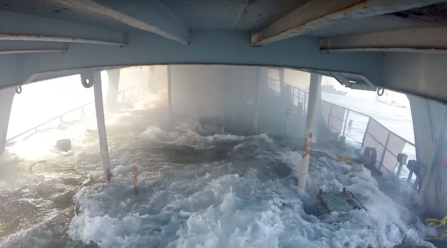 Ever wondered what it's like to be inside a sinking ship? (VIDEO)