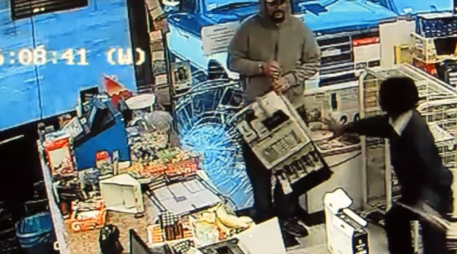 The man dropped the cash register before fleeing. © Methuen Police