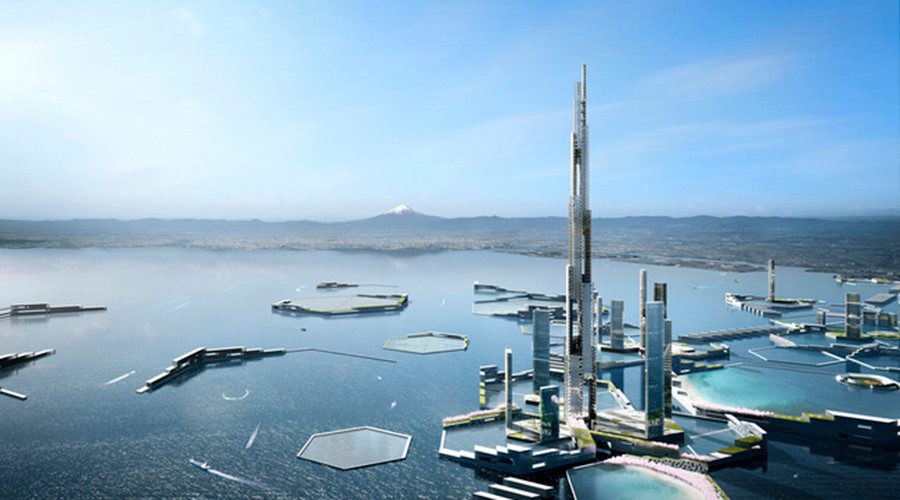 Twice the size of Burj Khalifa: Mile-high tower proposed as centerpiece of future Tokyo (PHOTOS)