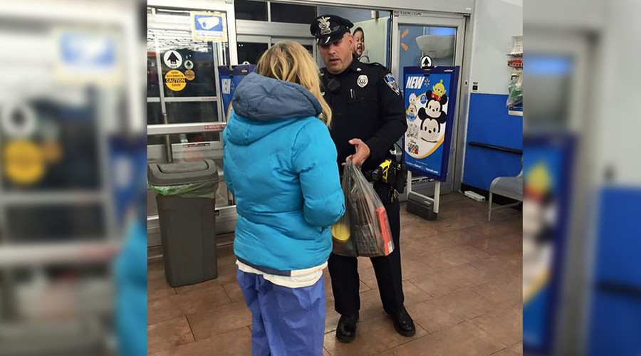 Mass. cop helps homeless woman survive snowstorm