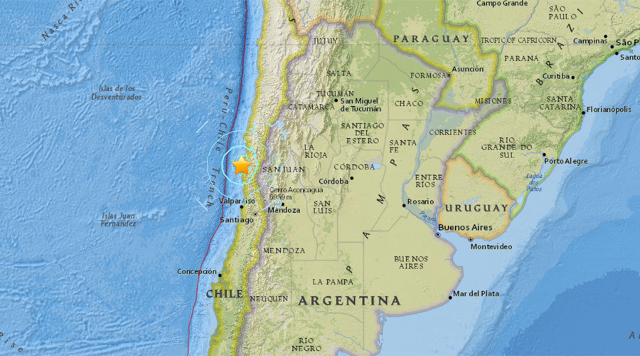6.3 quake rocks Chilean coast, tremors felt in western Argentina