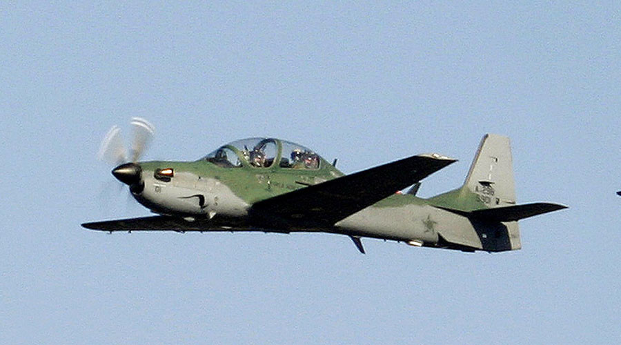 Indonesian training jet Super Tucano crashes onto residential area (PHOTOS)