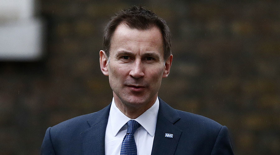 Britain's Health Secretary Jeremy Hunt. © Stefan Wermuth