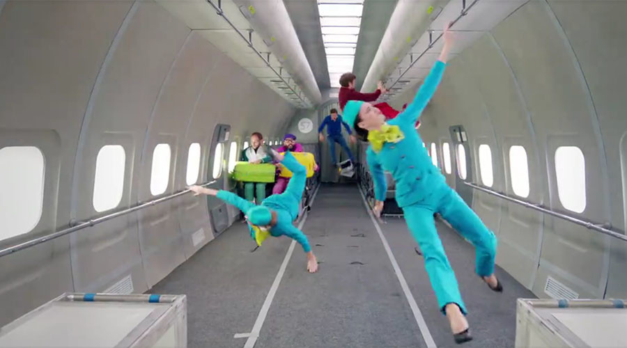 Take that, Einstein! 'Ok Go' film mesmerizing zero gravity music video in Russia