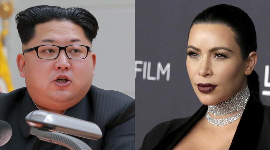 North Korean leader Kim Jong Un and TV personality Kim Kardashian ©  KCNA; Jonathan Alcorn