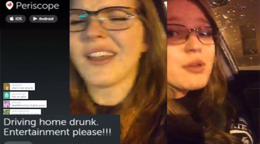 Driving while Periscoping: Drunk woman avoids jail after live streaming her crime