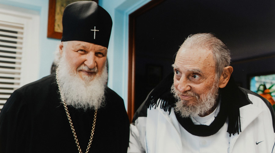 Russian Patriarch Kirill meets Cuba's Fidel Castro in Havana (VIDEO)