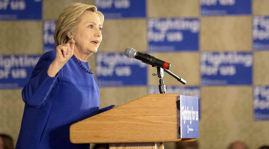Democratic presidential candidate Hillary Clinton © Alex Wroblewski