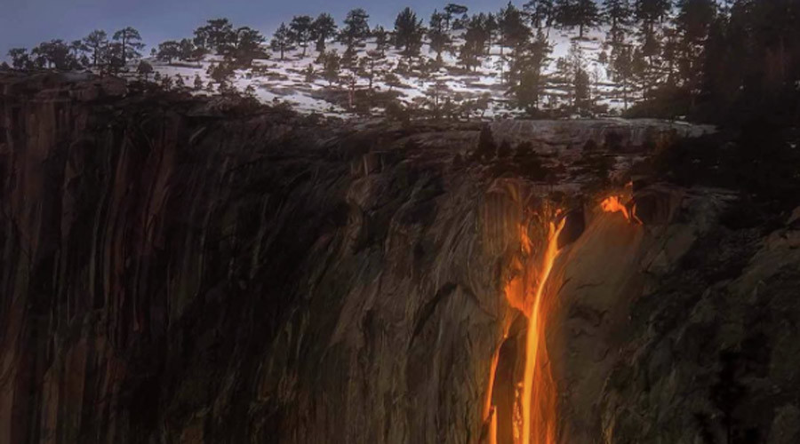 #LavaLove: Yosemite's bizarre firefall returns to delight of social media (PHOTOS)