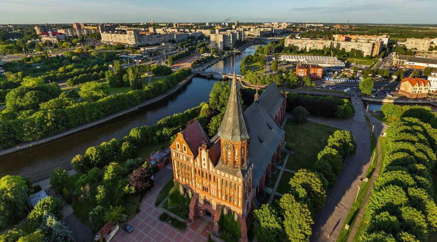 Bird's-eye view of Russia's westernmost city will take your breath away… & maybe leave you dizzy