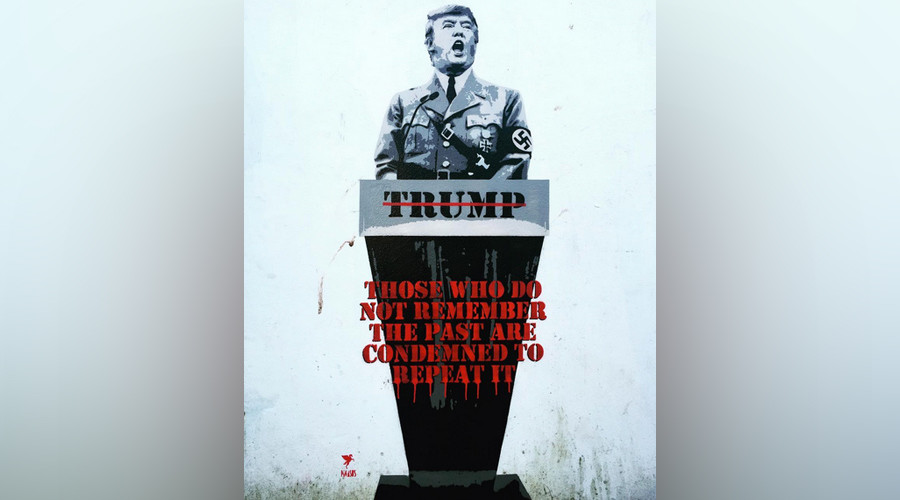 Heil Trump: British street artist turns 'The Donald' into Hitler