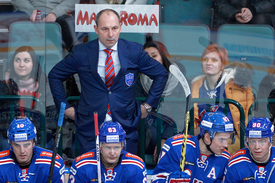 SKA St. Petersburg head coach Sergei Zubov © Alexey Danichev