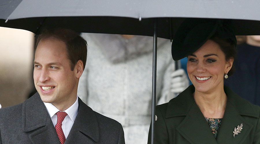 Britain's Prince William and his wife Kate. © Peter Nicholls