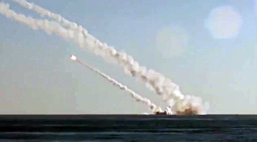 Rostov-on-Don submarine launches several 3M-54 Kalibr ©