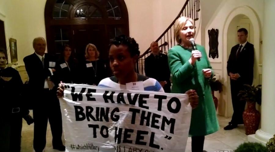 'I'm no superpredator': #BlackLivesMatter activist confronts Hillary for 1996 claim (VIDEO)