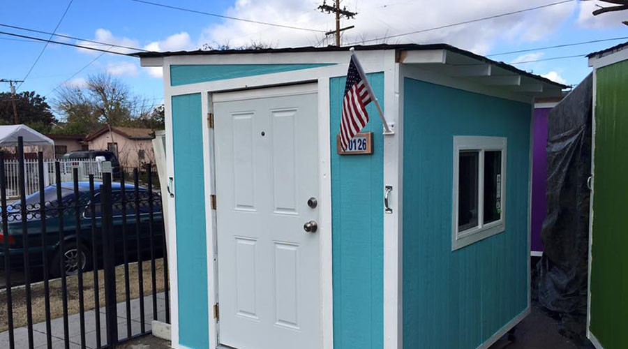 Homeless in los angeles lose tiny houses to city cleanup for Homeless shelters los angeles