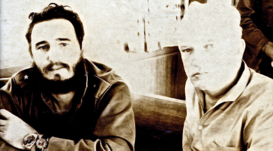 Fidel Castro and James Donovan at the Bay of Pigs. Castro is wearing the scuba-diving watch given to him by Donovan. © National Security Archive