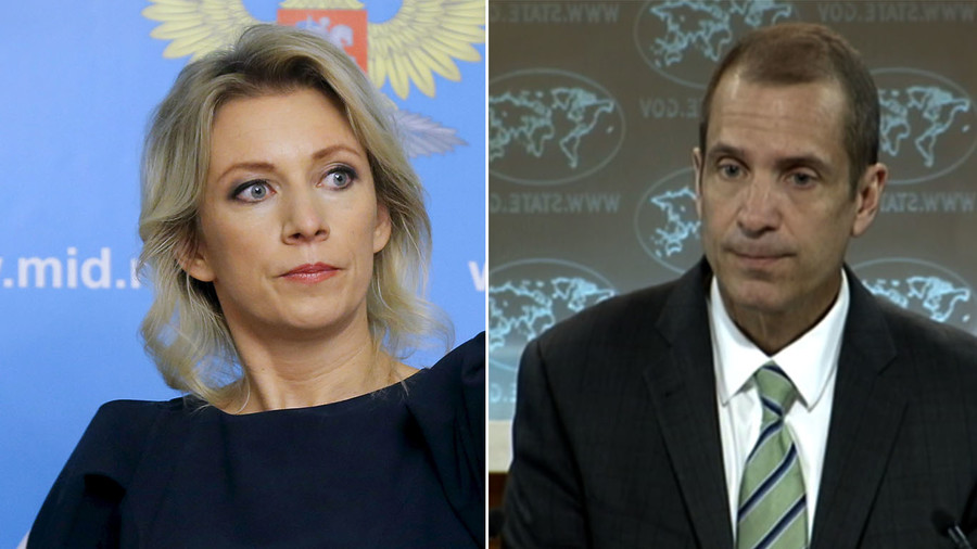 Maria Zakharova (L), Mark Toner. © Reuters / Wikipedia