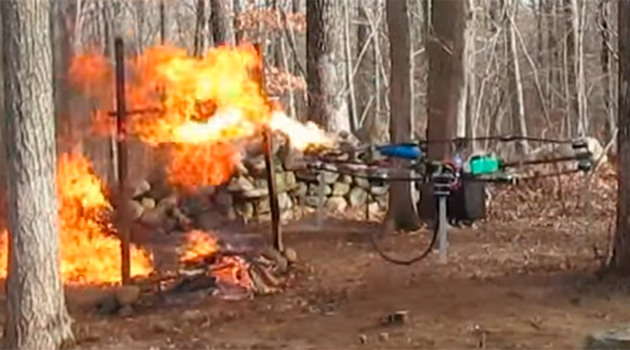 Connecticut to review 'weaponized drones' after teen's flame-throwing, gun-toting UAVs (VIDEOS)