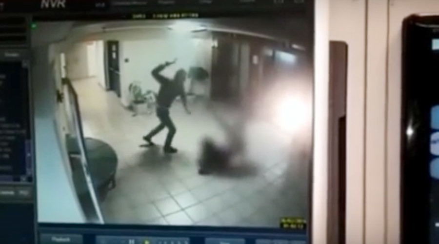 'Ax-wielding' Palestinian in brutal attack on Israeli guard (GRAPHIC VIDEO)