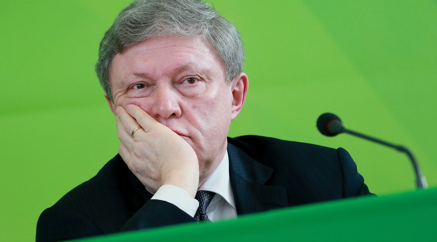 Veteran Russian liberal Yavlinsky announces presidential ambitions
