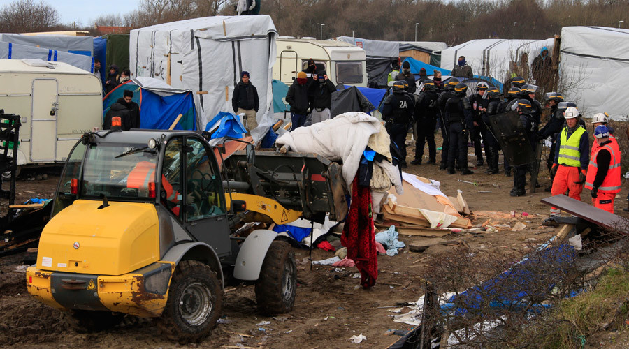 'Out of sight, out of mind?' London activists protest Calais Jungle demolition