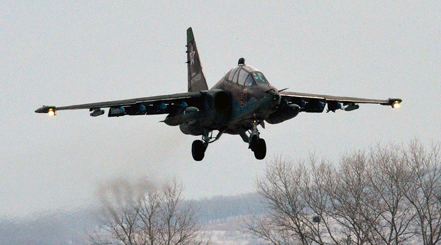 Su-25 fighter jet crashes in Russia's south, pilot dies