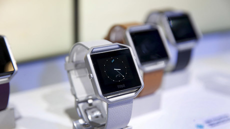 Fitbit Blaze watches are displayed during the 2016 CES trade show in Las Vegas, Nevada © Steve Marcus