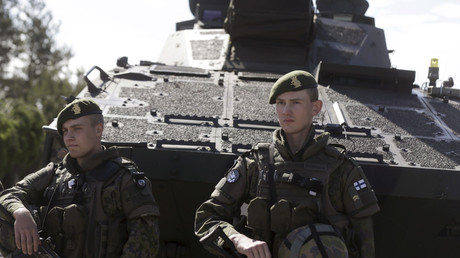 Finland's army soldiers attend the multinational NATO exercise Saber Strike in Adazi, Latvia © Ints Kalnins / Reuters