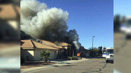 The fire occurred in Gilbert, Arizona. @GilbertFireDept