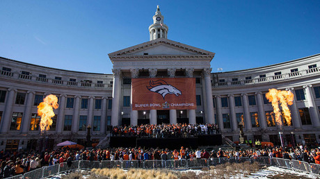 A general view during the Super Bowl 50 championship parade celebration at Civic Center Park. © Isaiah J. Downing / USA TODAY Sports