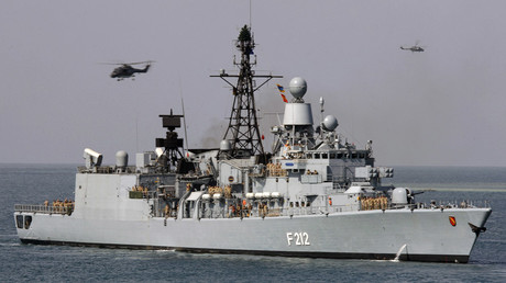 German navy frigate