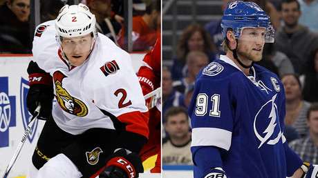 Ottawa Senators defenseman Dion Phaneuf and Tampa Bay Lightning center Steven Stamkos © USA Today Sports / Reuters