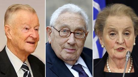 Zbig Brzezinski (L), Henry Kissinger (C), Madeleine Albright. © Wikipedia / Reuters