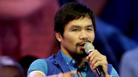 Filipino boxer Manny Pacquiao. ©Janis Alano