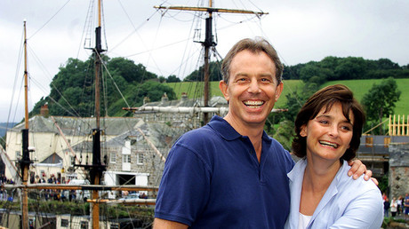 FILE PHOTO: Former British Prime Minister Tony Blair (L) and his wife Cherie © Stringer