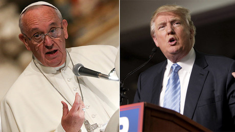 Pope Francis and GOP presidential hopeful Donald J. Trump © Stringer